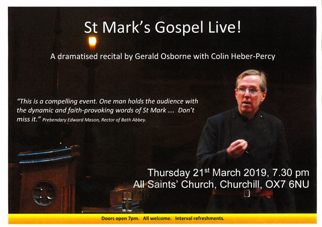 St. Mark's Gospel Dramatised Recital